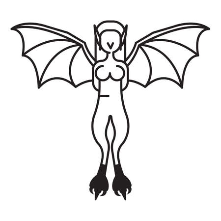 talons: woman with talons and wings Illustration