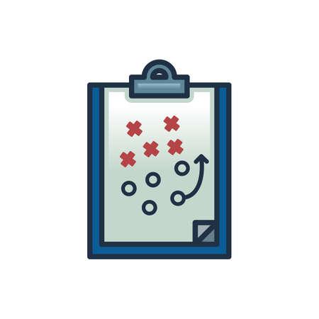 tactics: football tactics clip board Illustration
