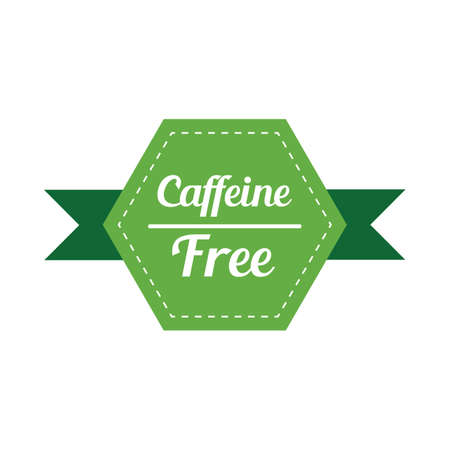 caffeine free: caffeine free label Illustration