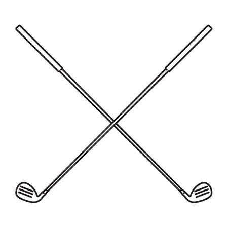 crossed: crossed golf clubs