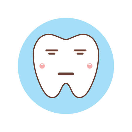 disappointed: tooth feeling disappointed Illustration