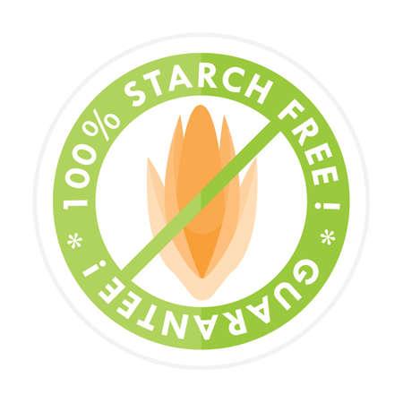 starch: starch free label