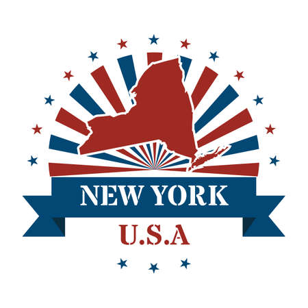 new york state: new york state map label