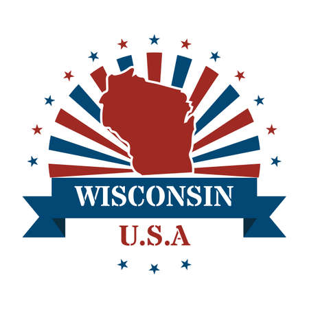 state wisconsin: wisconsin state map label