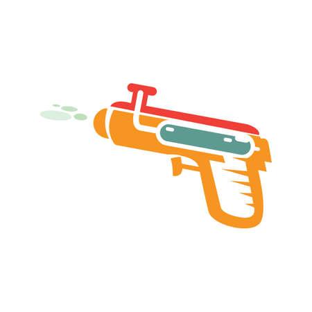 squirt: water gun Illustration