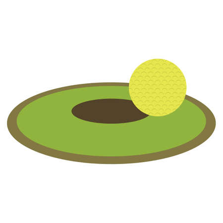hole: golf ball with hole