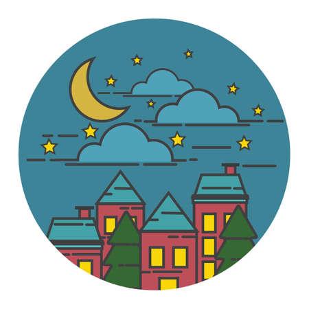 moon  metropolis: night view of a city