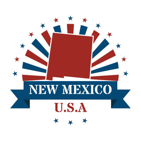 new mexico: new mexico state map label