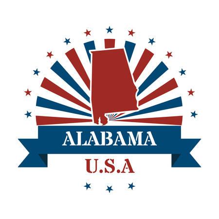 alabama: alabama state map label