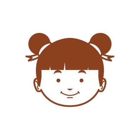 cute: cute girl Illustration