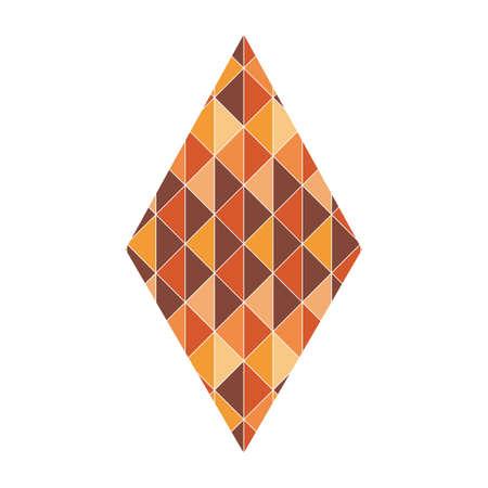 geometrical pattern: rhombus with geometrical pattern