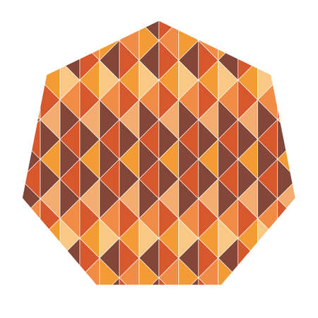 heptagon: heptagon with geometrical pattern Illustration