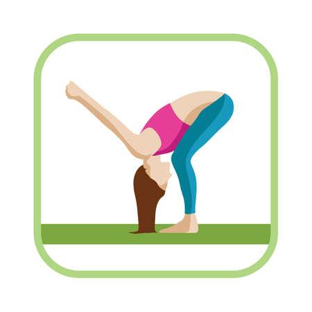 stretch: standing shoulder stretch Illustration