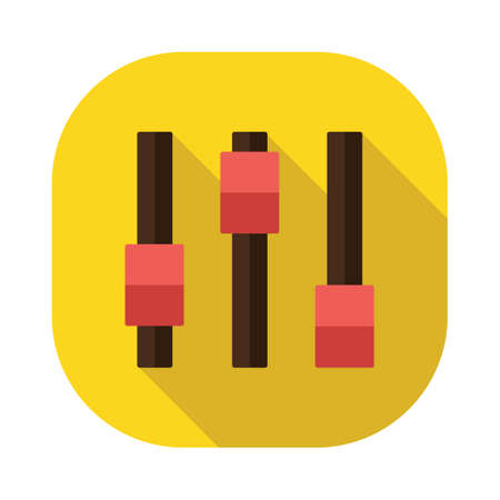 mixing console: slider buttons Illustration