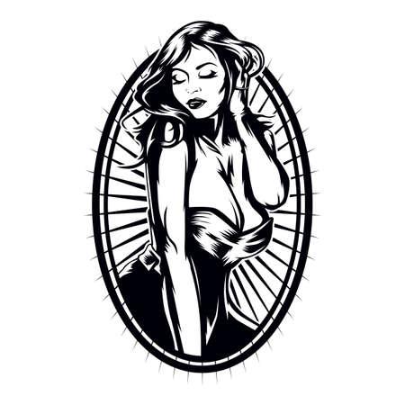 sexy woman frame Illustration