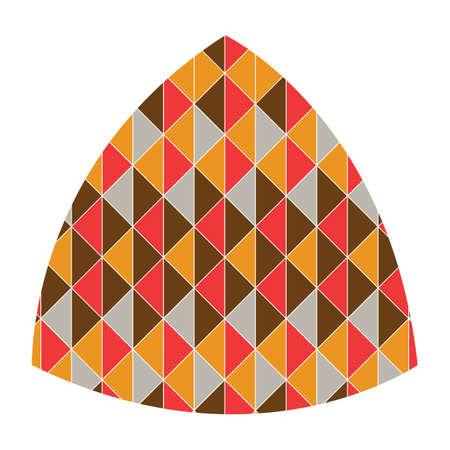 geometrical pattern: triangle with geometrical pattern