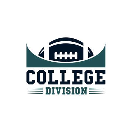 division: college division label design Illustration