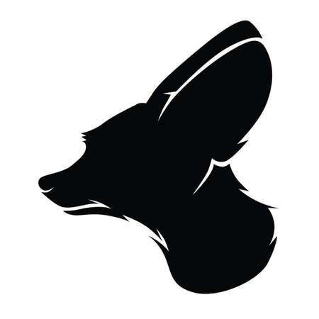 fennec fox Vector Illustration