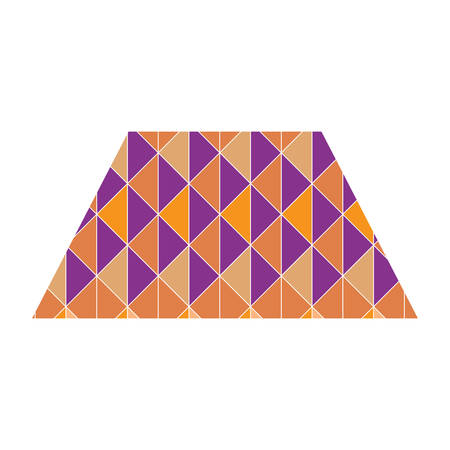 trapezoid: trapezoid with geometrical pattern
