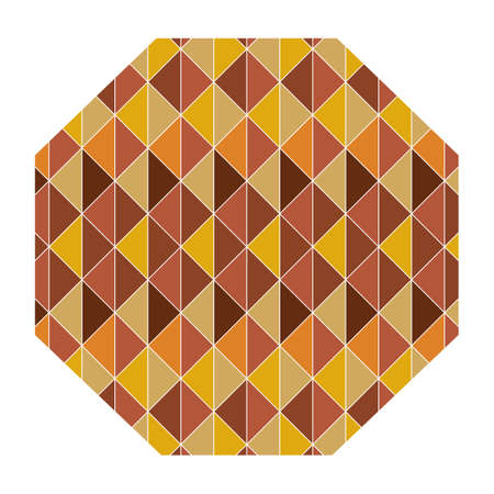 octagon: octagon with geometrical pattern Illustration