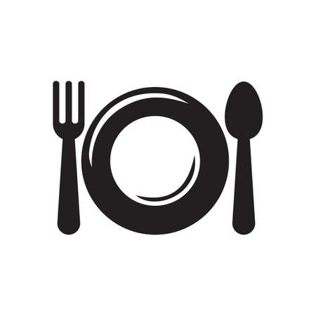 plate: plate, spoon and fork