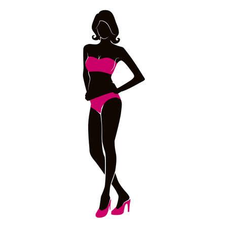 hot woman: hot woman silhouette