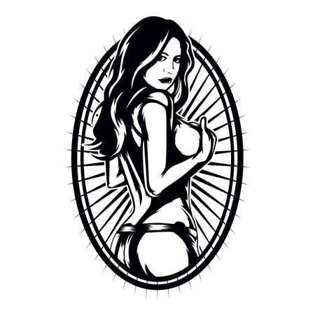 Sexy Frau Rahmen Standard-Bild - 52571334