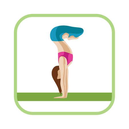 lotus pose: handstand with lotus pose