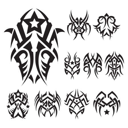 Ensemble de tatouage tribal Banque d'images - 52571289