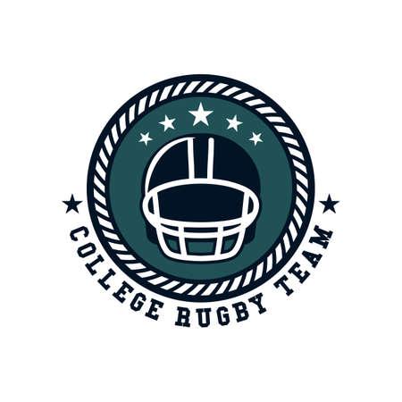 rugby team: college rugby team label design