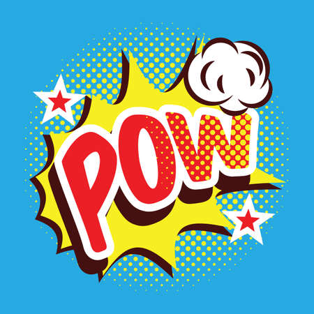 pow: cartoon pow text