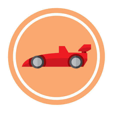 racing car: racing car Illustration