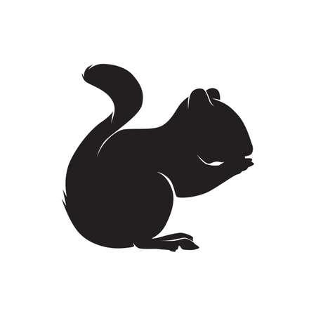 silhouette d'un écureuil