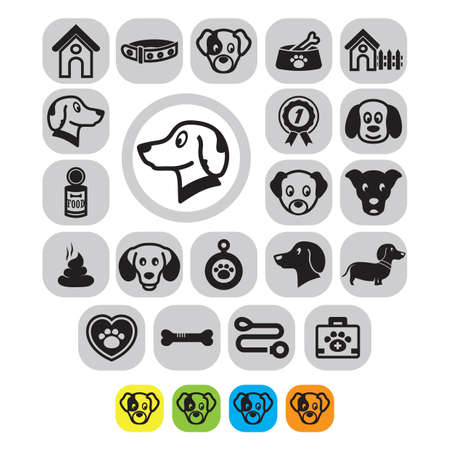 box weight: pet icon set