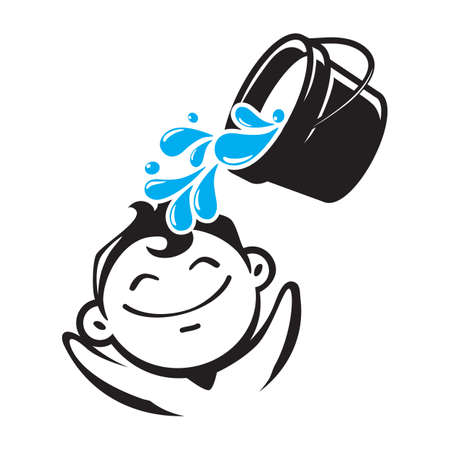 boy with water bucket