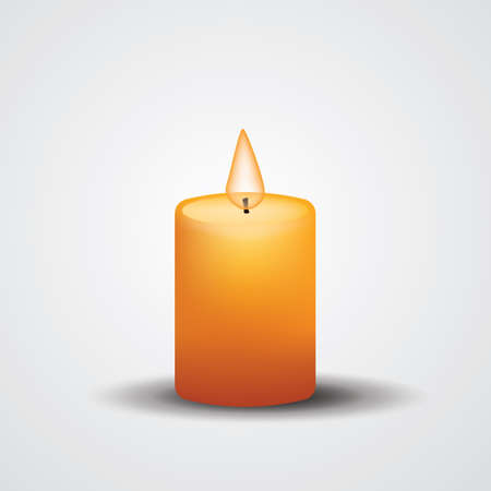 burning: burning candle Illustration