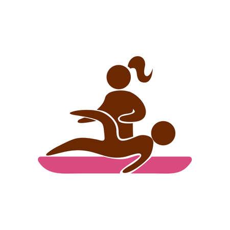 Fille donnant un massage des jambes Banque d'images - 52574828