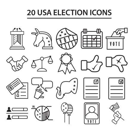 horse like: usa election icons