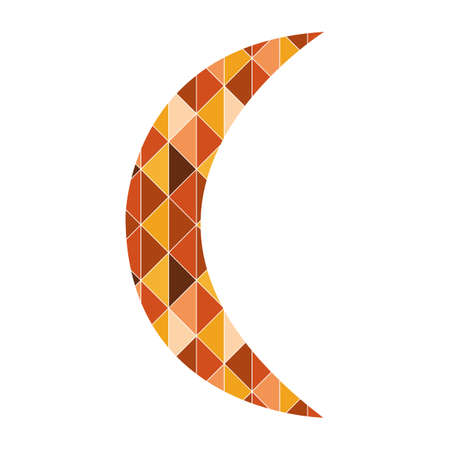 crescent: crescent with geometrical pattern