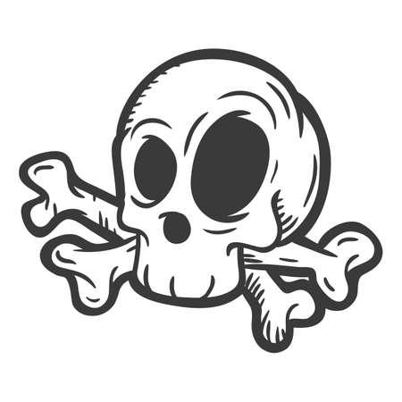 crossbones: skull and crossbones