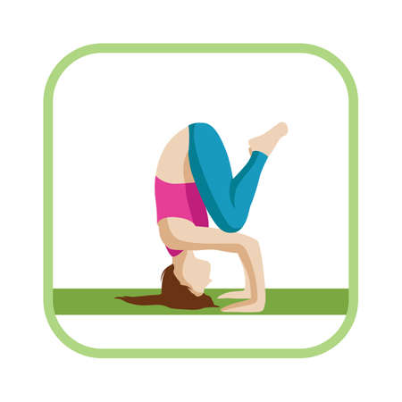 headstand: headstand pose Illustration