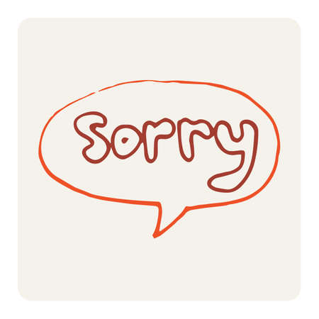 forgiving: sorry Illustration