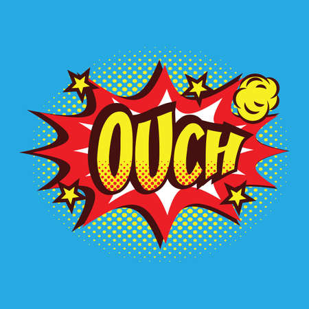ouch: cartoon ouch text