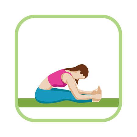 stretch: intense dorsal stretch Illustration