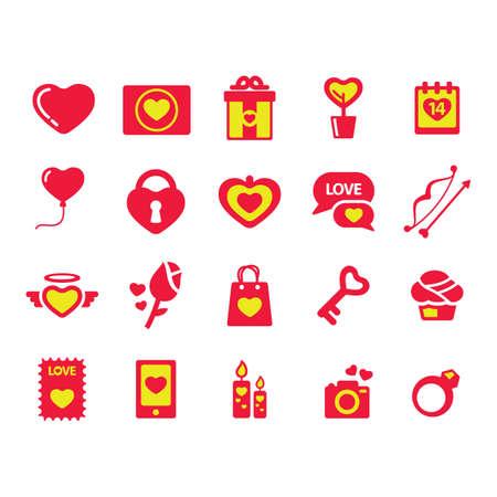 angel roses: set of valentine day icon