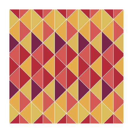 square: square with geometrical pattern Illustration
