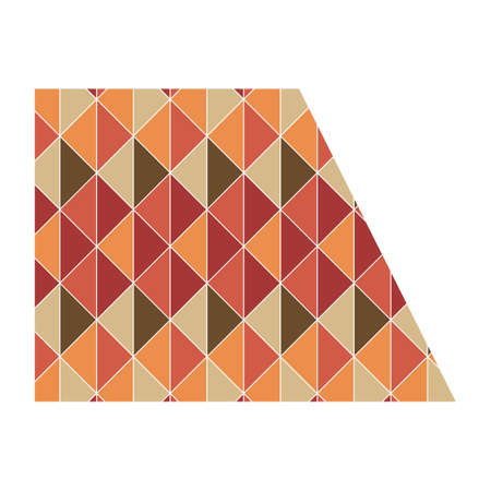trapezoid: trapezoid with geometrical pattern