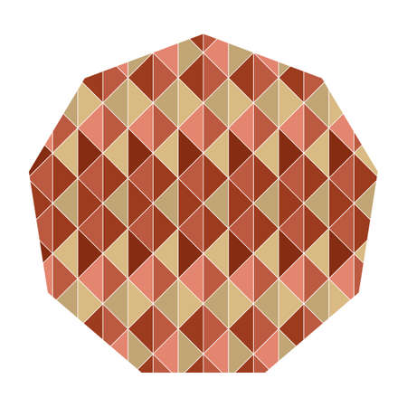 geometrical pattern: polygon with geometrical pattern Illustration