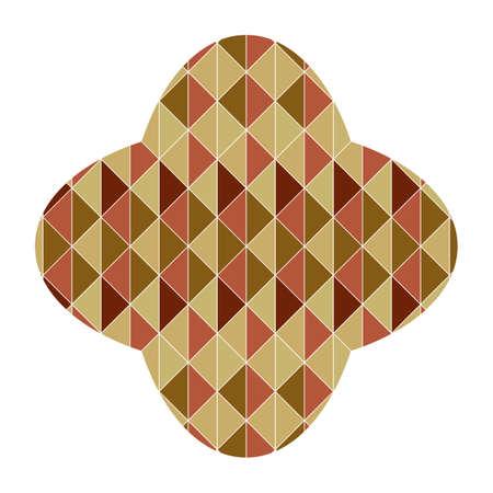 petal: petal shape with geometrical pattern Illustration
