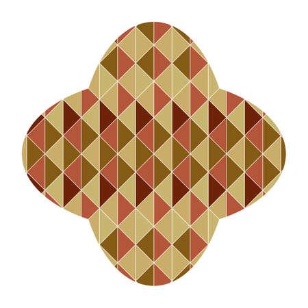 petal: petal shape with geometrical pattern Illustration